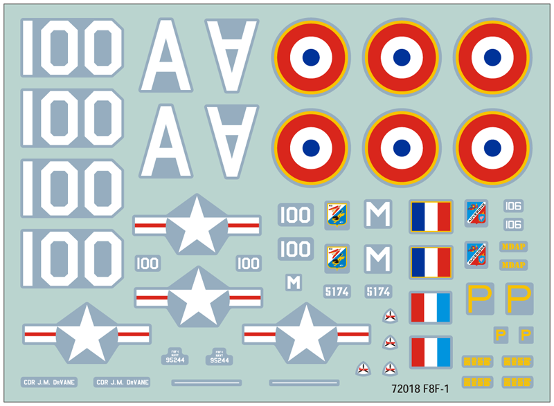 72018 F8F-1 Bearcat decals
