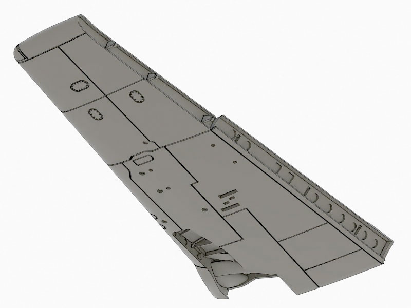 f8F Bearcat wing detail 1:72