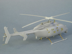 built mq-8c with photoetch from rear