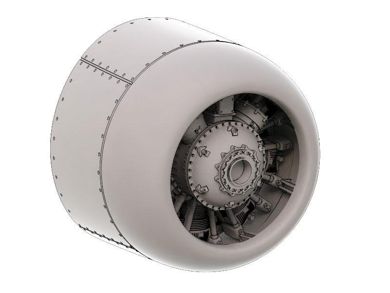 F8F-1 engine 1:72